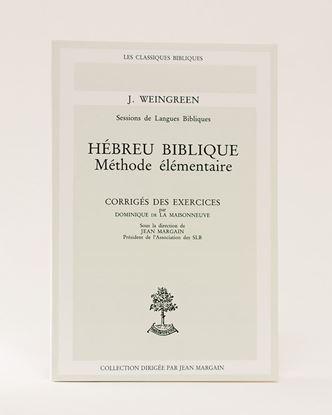 Picture of Corrigé des exercises: Hébreu biblique méthode ELE