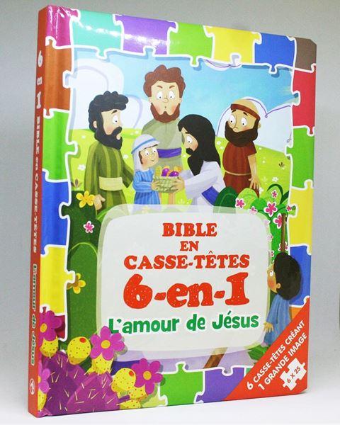 Picture of Bible en casse-têtes 6-en-1 – L'amour de Jésus