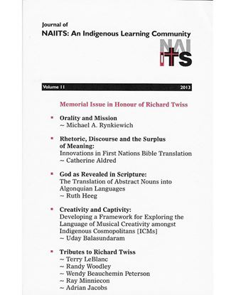 Picture of Journal of NAIITS Volume 11 - 2013 PDF